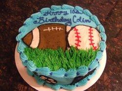 Sports Cake (Football, Baseball)