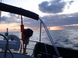 Sunrise in the Bay of Biscay