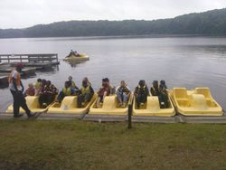FAOGA Group going paddle boating at the CHMA Event