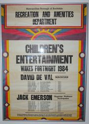 1984 Poster back signed by David.