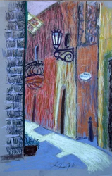 Alley with lamp
