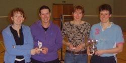 Handicap Tournament Ladies Doubles Winners & Runners Up