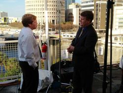 Interviewing a guest in Tampa