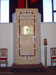 Holy Rosary Altar tabernacle mosaic