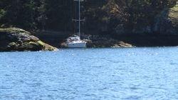 anchored near sunsetet cove