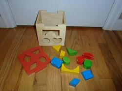 Wooden Shape Sorter - $8