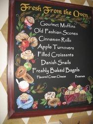Menu Board- Pastries