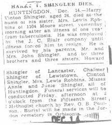 Shingler, Harry 1932