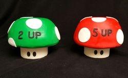 Mario Bros Mushroom Cakes
