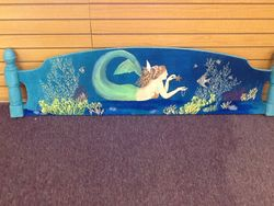 mermaid bed headboard design