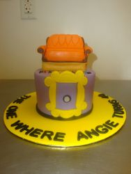 10 serving fondant Friends couch topper cake $90