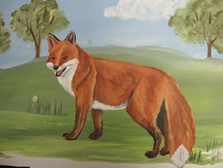close-up on the fox