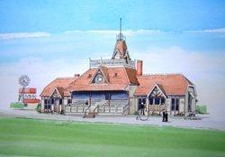 Lancaster Park Pavillion 1882