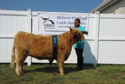 Reserve Champion Showman Olivia Moore with LSR Treasure