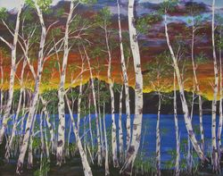 Aspens on the Lake