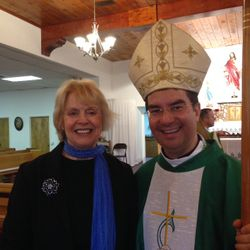 Elizabeth Offutt and Bishop Cantu