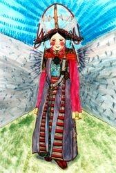 Tibetan Festival Costume, Gondalen Monastery
