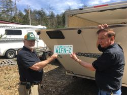 Al and Fred admiring the new plate
