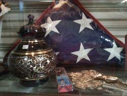 American Flag & Urn