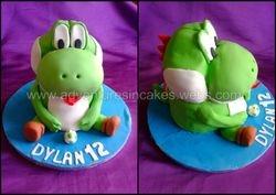 Yoshi birthday cake