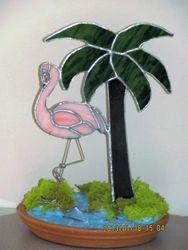 Flamingo and Palm Tree Decor