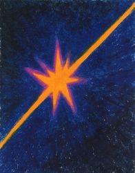 Shine On, Oil Pastel, 11x14, Original Sold