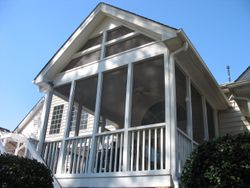 Removable Screened Porch Panel Install Brier Creek Raleigh, NC