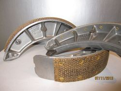 Relined Alfa Romeo 1900 Brake Shoes