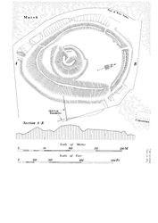 Mound of Down Plan, Strangford, County Down