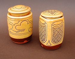 "Lidded Pots 5"" tall"