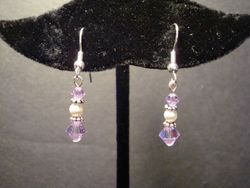 General Cancer Awareness Earring (Silver) (Item #3128)  $7.50