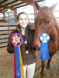 Theo likes the blue ribbons