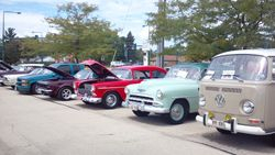 Some of the 15 Gentlemen Car Club members at Doc's Diner car show