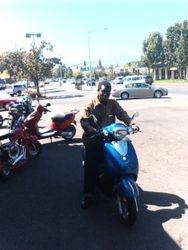 SAMUEL  ON  MY  MOTORBIKE