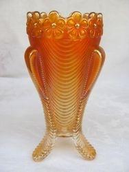 Daisy and Drape, turned in vase, dark marigold