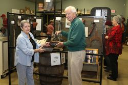 Item donation to Towns Bluff Museum
