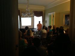 Gary's Lecture in the front parlor