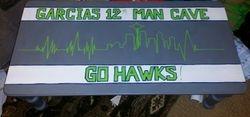 Garcia's Seahawks Man Cave Table
