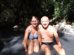 Bathing in the hot springs!
