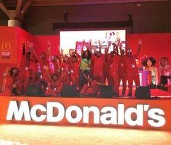 Demetria McKinney at Essence Festival - McDonald's Booth