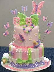 Butterfly Themed baby Shower Cake 29