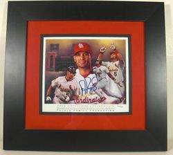 Albert Pujols 2006 Signed Print # 365/700 Custom Framed