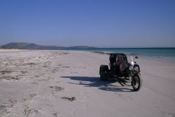 My Trike going for a spin on the Beach at Cape Le Grand