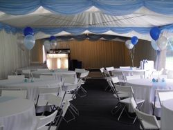 Sky blue marquee swags