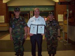 Promoted to 2d Lt Joseph L. Saracino & Membership Ribbon