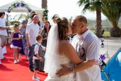 A kiss after the ceremony