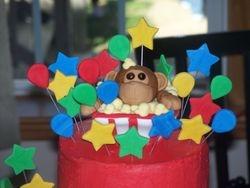 Monkey in Popcorn Cake