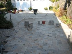 Placement Of Brick Pavers
