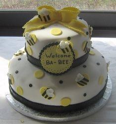 Welcome Ba-Bee Shower Cake