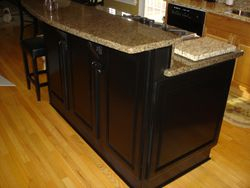 After with black laquer and granite